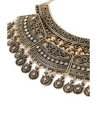Forever 21 - Metallic Tiered Statement Necklace - Lyst