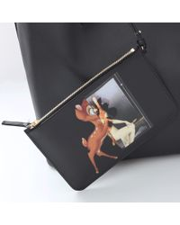 Givenchy Black Bambi Print Antigona Shopper