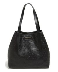 Jimmy Choo Black 'sara' Star Embossed Tote