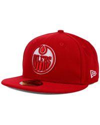 KTZ - Red Edmonton Oilers C-Dub 59Fifty Cap for Men - Lyst