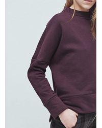 Mango | Purple Cotton Sweatshirt | Lyst