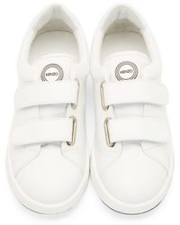 KENZO - White Leather Velcro Sneakers - Lyst
