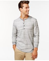 Alternative Apparel | Gray Space-dyed Frontier Henley for Men | Lyst