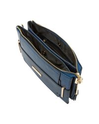 Dune Blue Emma Double Pouch Clutch Bag