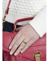 MFP MariaFrancescaPepe | Metallic Palm Spring 23Kt Gold Rings - Set Of Two | Lyst