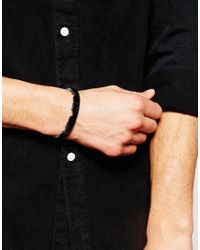 ASOS   Black Bangle With Jagged Edge Finish In Gunmetal for Men   Lyst