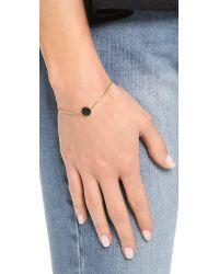 Marc By Marc Jacobs - Pave Disc Bracelet - Black/oro - Lyst