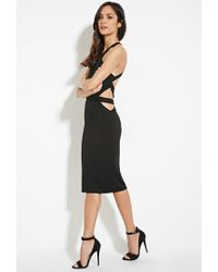 Forever 21 - Black Strappy Cutout Dress - Lyst