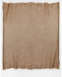 ASOS - Brown Oversized Knit Scarf - Lyst