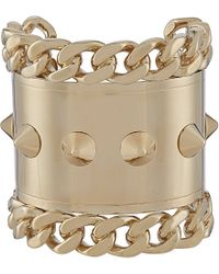 Givenchy - Metallic Pale Gold-Toned Studded Cuff Bracelet - For Women - Lyst