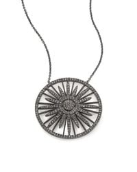 Adriana Orsini Metallic Radiance Crystal Sun Pendant Necklace