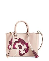 Tory Burch | Natural 'small Robinson Floral' Tote | Lyst