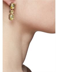 Valentino Yellow Rhinestone Earrings
