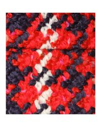 Miu Miu - Red Check Wool-blend Skirt - Lyst