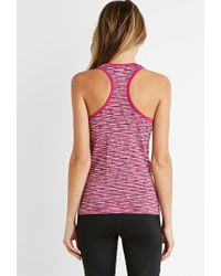 Forever 21 - Purple Active Space Dye Racerback Tank - Lyst