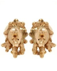 Ruth Tomlinson | White Gold Pearl Encrusted Stud Earrings | Lyst