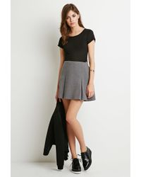 Forever 21 | Gray Pleated Mini Skirt | Lyst