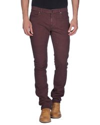 Ports 1961 Red Casual Trouser for men