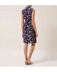 Hobbs - Blue Piper Textured Dress - Lyst