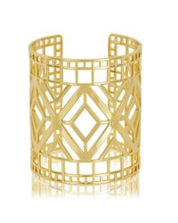 Arme De L'Amour | Metallic Large Pattern Bracelet | Lyst