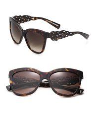 Dolce & Gabbana - Brown Filigree Arm 55mm Square Sunglasses - Lyst