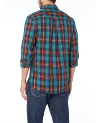 Lyle & Scott - Blue Long Sleeve Tartan Twill Classic Collar Shirt for Men - Lyst