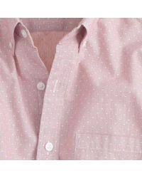 J.Crew - Pink Slim Secret Wash Shirt In Woven Dots for Men - Lyst