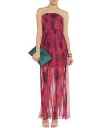 Alice + Olivia Pink Padmae Pleated Silkgeorgette Maxi Dress