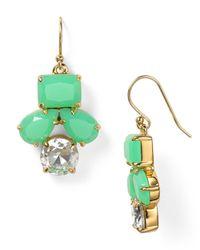 kate spade new york | Green Secret Garden Drop Earrings | Lyst