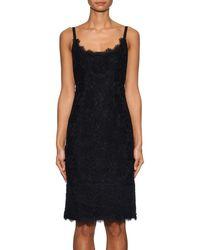 Diane von Furstenberg | Black Olivia Scalloped Slip Dress | Lyst
