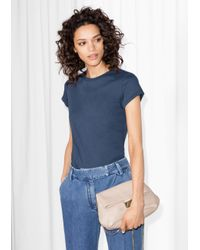 & Other Stories - Blue Cotton T-shirt - Lyst
