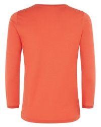 Jaeger Red Knit Trim T-Shirt