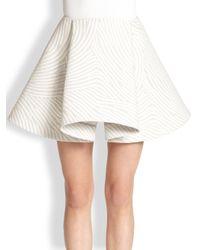 Opening Ceremony - Gray Wave Jacquard Foldedfront Skirt - Lyst