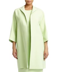 Lafayette 148 New York - Green Mary 3/4-sleeve Long Topper Jacket - Lyst