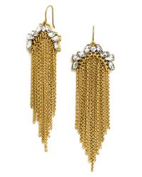 BaubleBar - Metallic 'garland' Tassel Drop Earrings - Antique Gold - Lyst