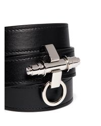Givenchy | Black 3 Row Obsedia Leather Bracelet for Men | Lyst