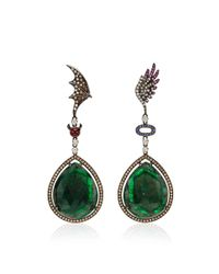 Wendy Yue | Green Angel and Devil Earrings | Lyst