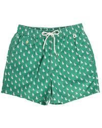 Polo Ralph Lauren   Green Traveler Sailboat-print Swim Short for Men   Lyst