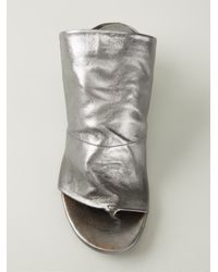 Marsèll Metallic Open Toe Mules