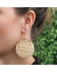 Lucifer Vir Honestus | Metallic Maple Wood Disc Earrings | Lyst