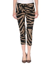 People - Natural 3/4-length Trousers - Lyst