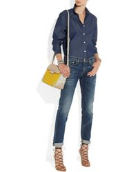 Marc By Marc Jacobs - Yellow Sheltered Island Colorblock Leather Shoulder Bag - Lyst