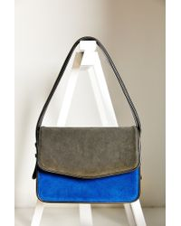 Silence + Noise | Blue Suede Shoulder Bag | Lyst