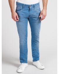 Replay Blue Anbass Slim Tapered Jeans for men