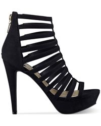 G by Guess   Black Women'S Tipsy Caged Platform Sandals   Lyst