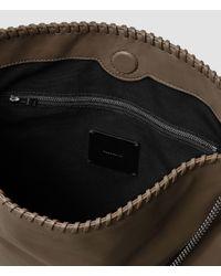 AllSaints | Gray Fleur De Lis Chain Shoulder Bag | Lyst