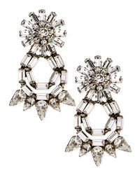 DANNIJO | Metallic Grace Crystal Statement Earrings | Lyst