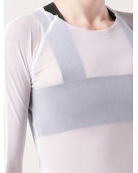 Phoebe English - White Long Sleeved Top - Lyst