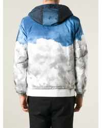 Moncler Blue Reversible Padded Jacket for men