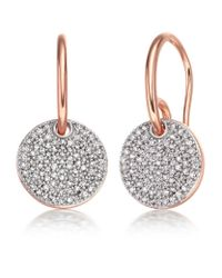 Monica Vinader | Metallic Ava Diamond Disc Drop Earrings | Lyst